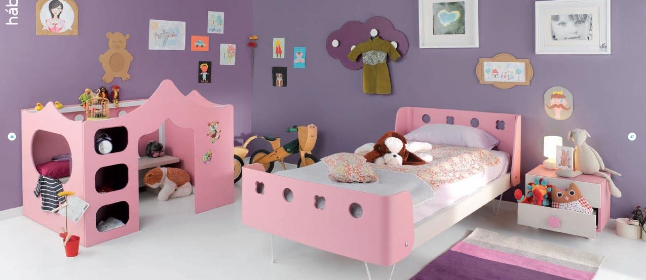 Cama individual y palacio de juegos for Dormitorios infantiles madrid