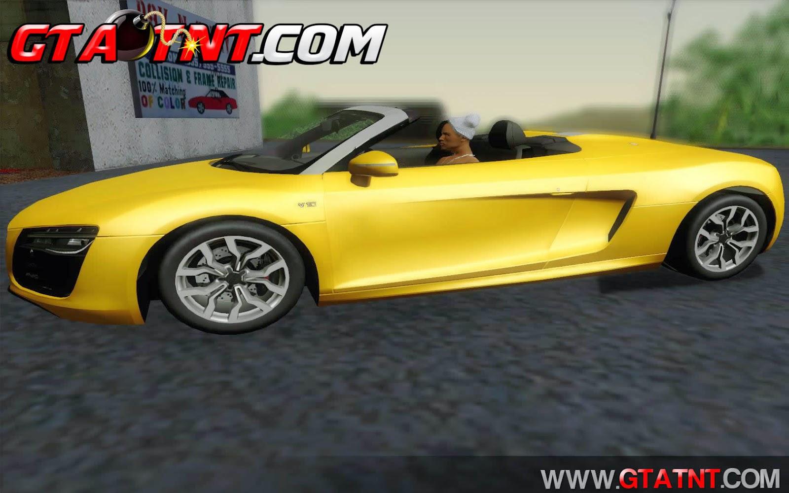 Audi R8 V10 Spyder 2014 para GTA San Andreas