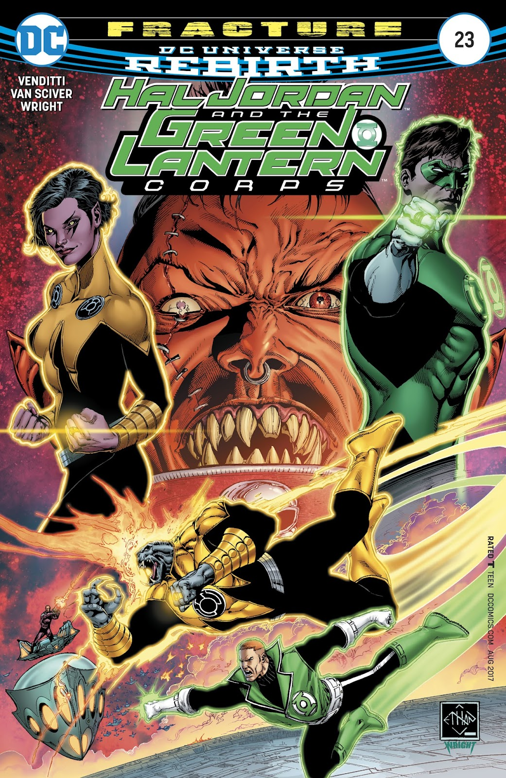 Hal Jordan & the Green Lantern Corps: Rebirth issue 23 - Page 1