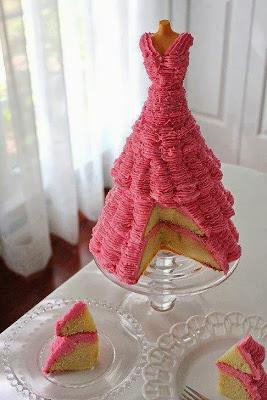 Tarta vestido rosa