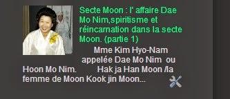 Secte Moon : l' affaire Dae Mo Nim,spiritisme et réincarnation dans la secte Moon. (partie 1)