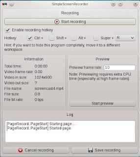 Menu Simple Screen Recorder