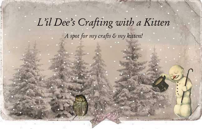 L'il Dee's Crafting with a Kitten