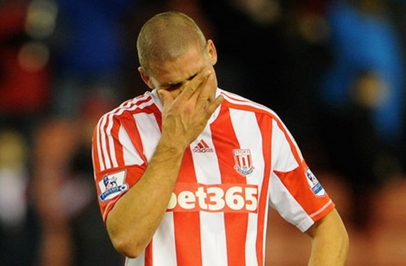 Stoke City striker Jonathan Walters reflects on his 90 minutes of misery