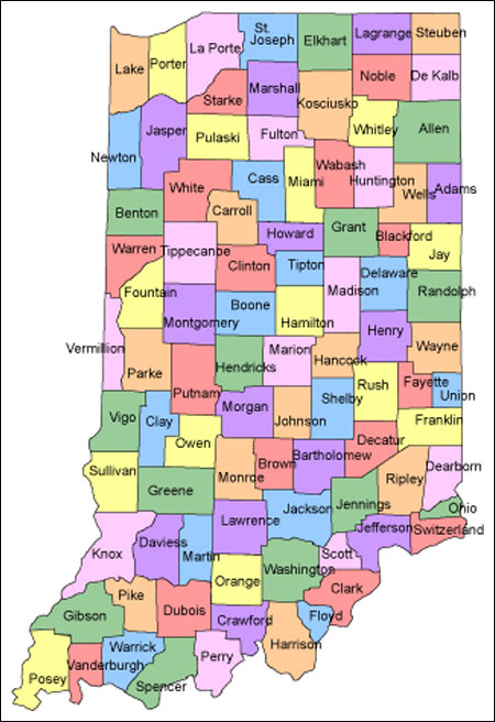 Online Maps Indiana County Map