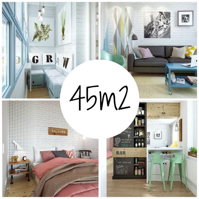 Apartamento de 45 m2 hacer f cil lo dif cil for Decoracion de apartamentos de 50 metros