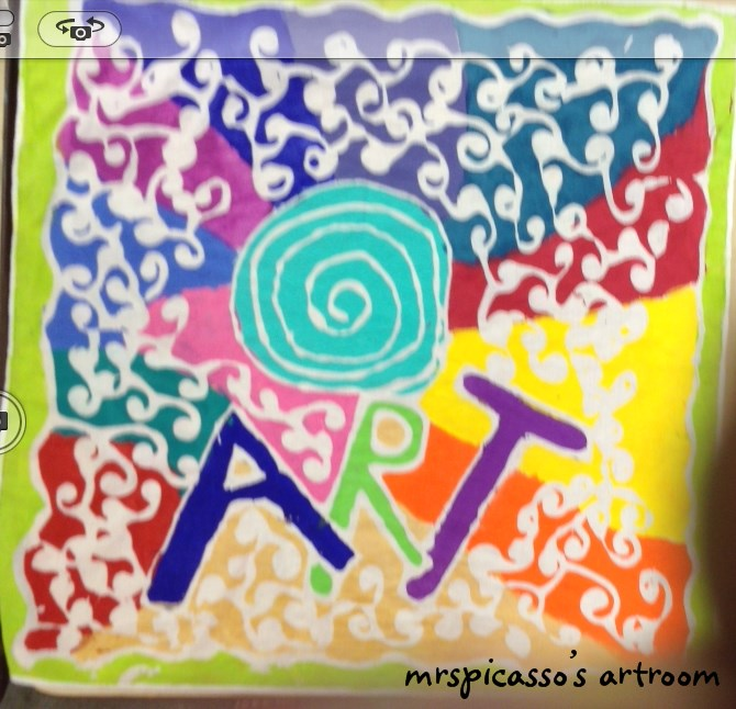 covering cardboard letters with scrapbook paper