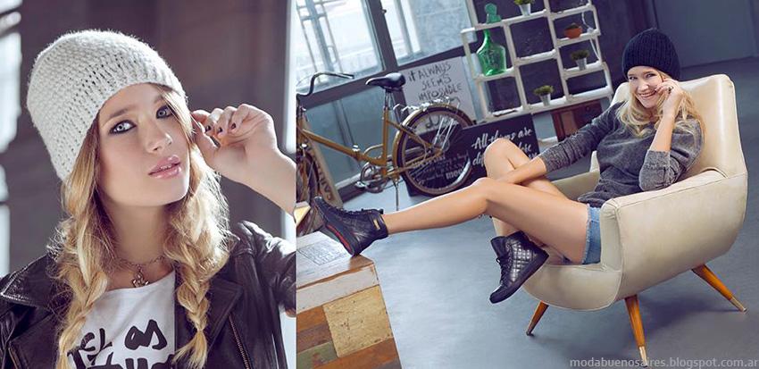 Moda otoño invierno 2014 zapatillas. Lady Stork otoño invierno 2014.