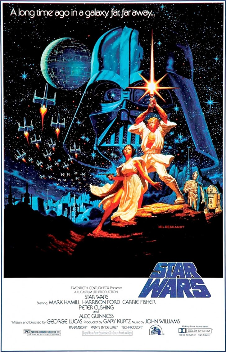 Star Wars IV A New Hope Movie Poster