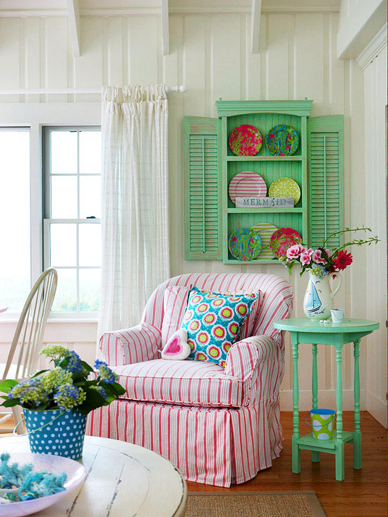 i am inspired by the beautiful cottage style rooms below hope you are inspired as well happy weekend - Cottage Decorating