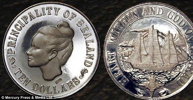 A moeda da micro-nação Sealand