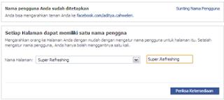 ganti alamat fp, Username Fans Page, ganti username fp, cara mengganti alamat fp, ubah alamat user name fans page, cara ganti alamat username fanspage fp di facebook