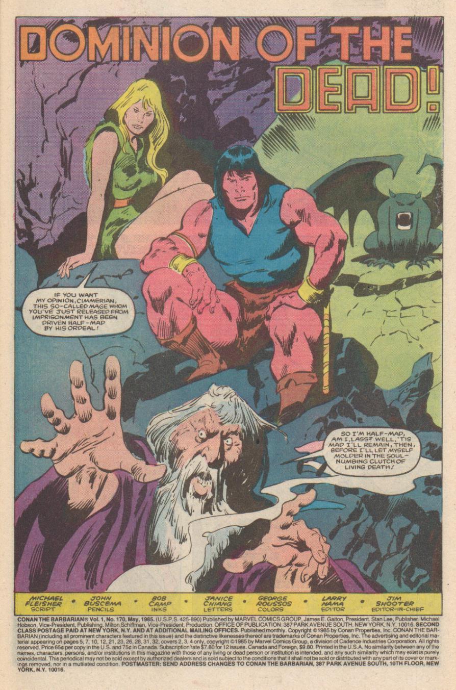 Conan the Barbarian (1970) Issue #170 #182 - English 2