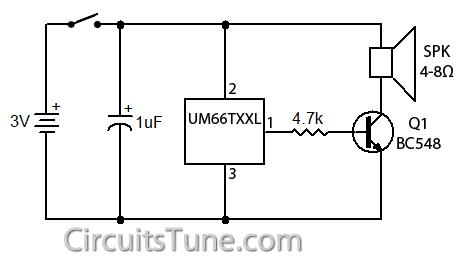 um66 music generator circuit