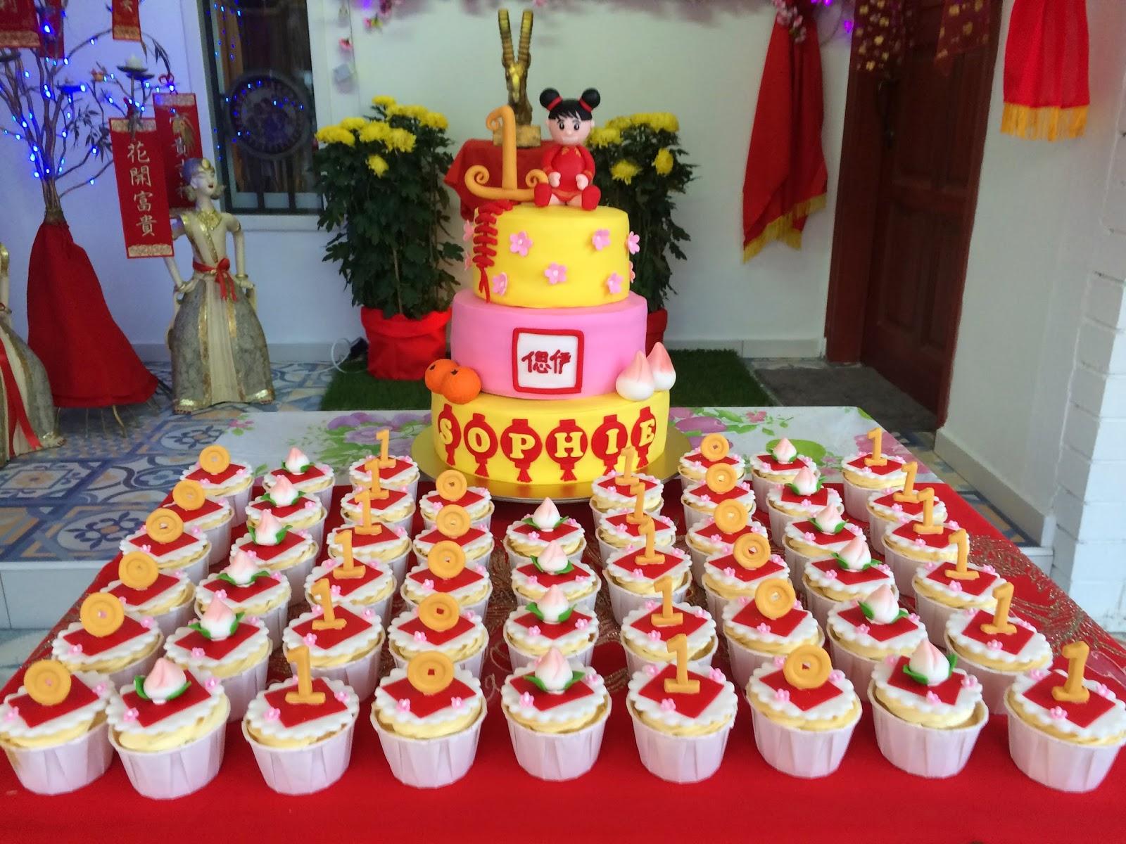 Chinese New Year 1st Birthday Cake Cupcakes Crissas Cake Corner