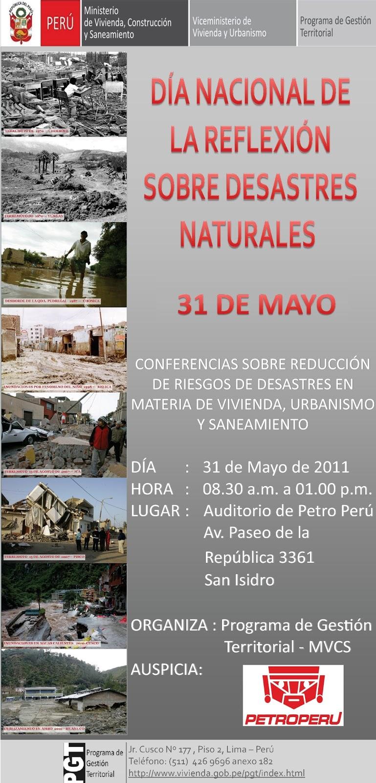 De La Refleccion De Los Desastres Naturales   MEJOR CONJUNTO DE FRASES