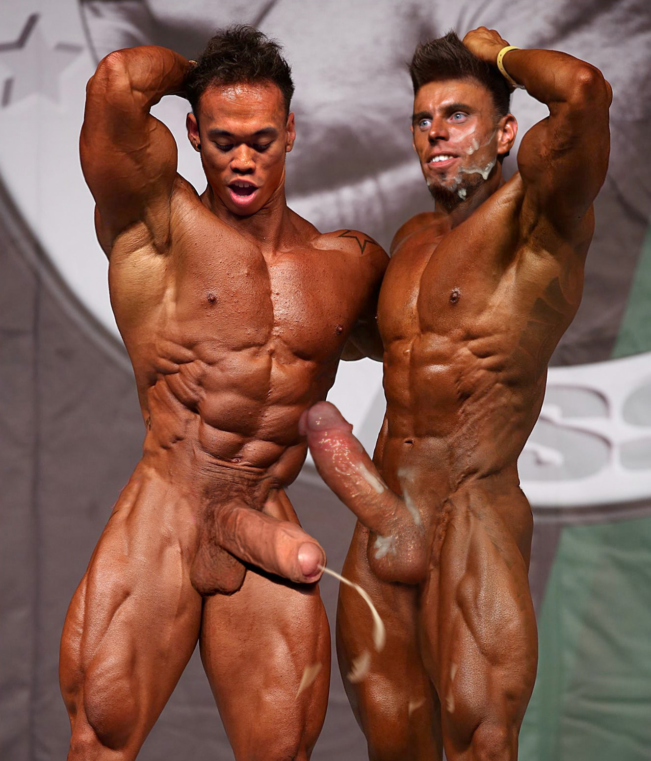 massive muscle men nude