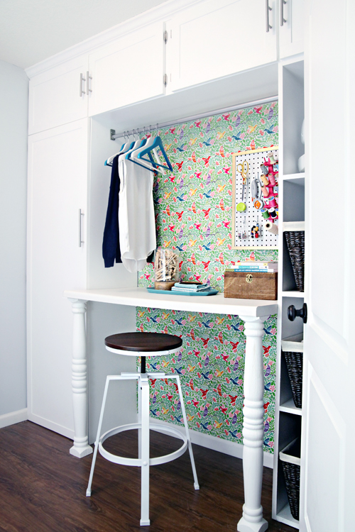 Diy wrapping paper wall 5