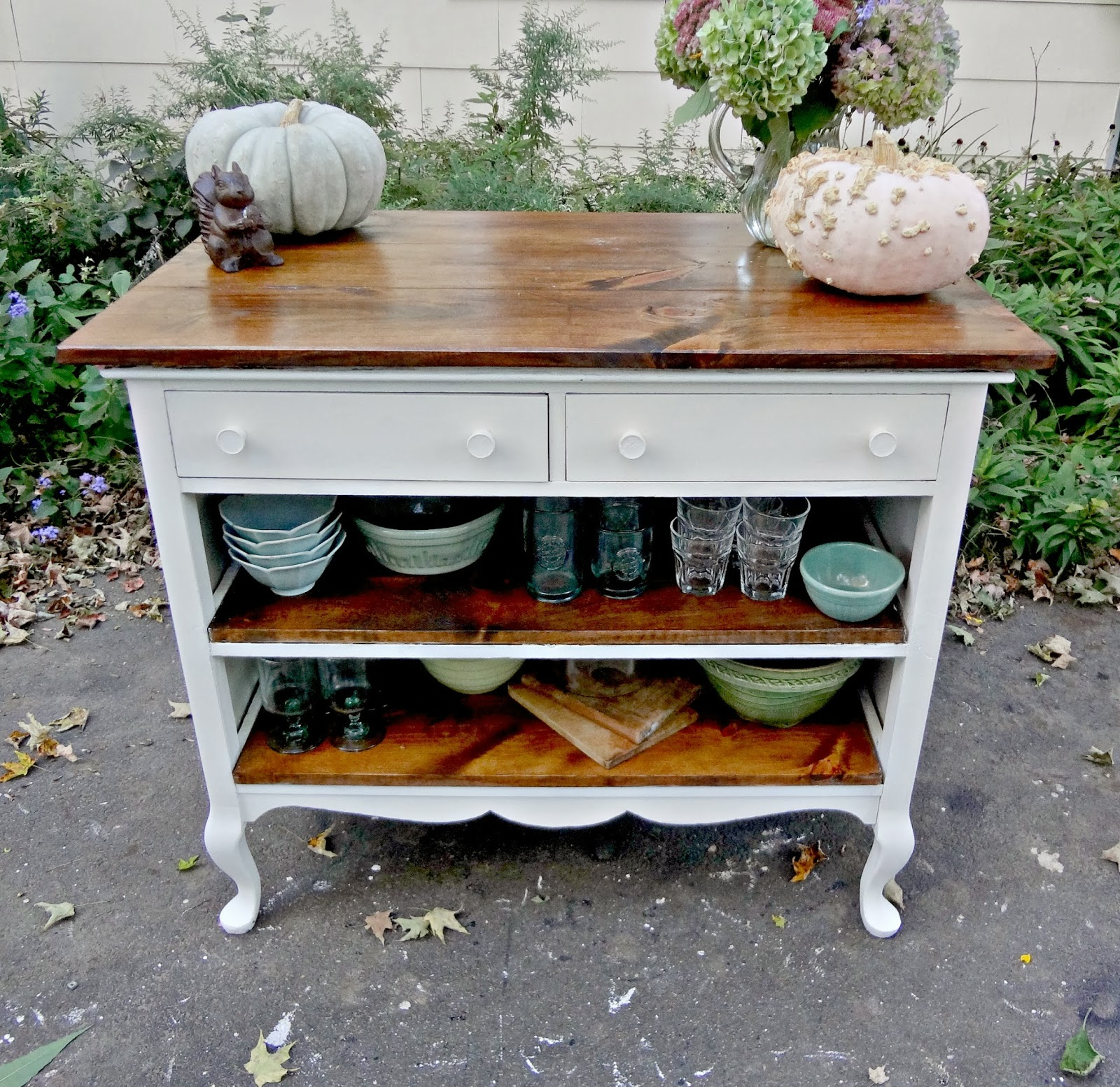 Kitchen Island Made From Old Desk: Heir And Space: Antique Dresser Turned Kitchen Island
