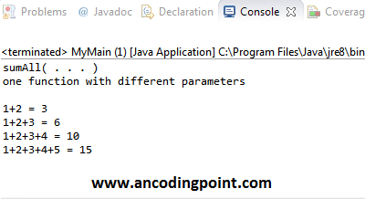 Parameters Logic program in Java