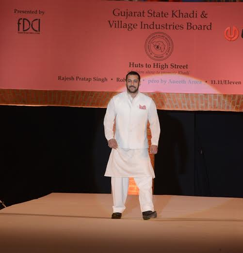Bollywood actor Salman Khan walks the ramp