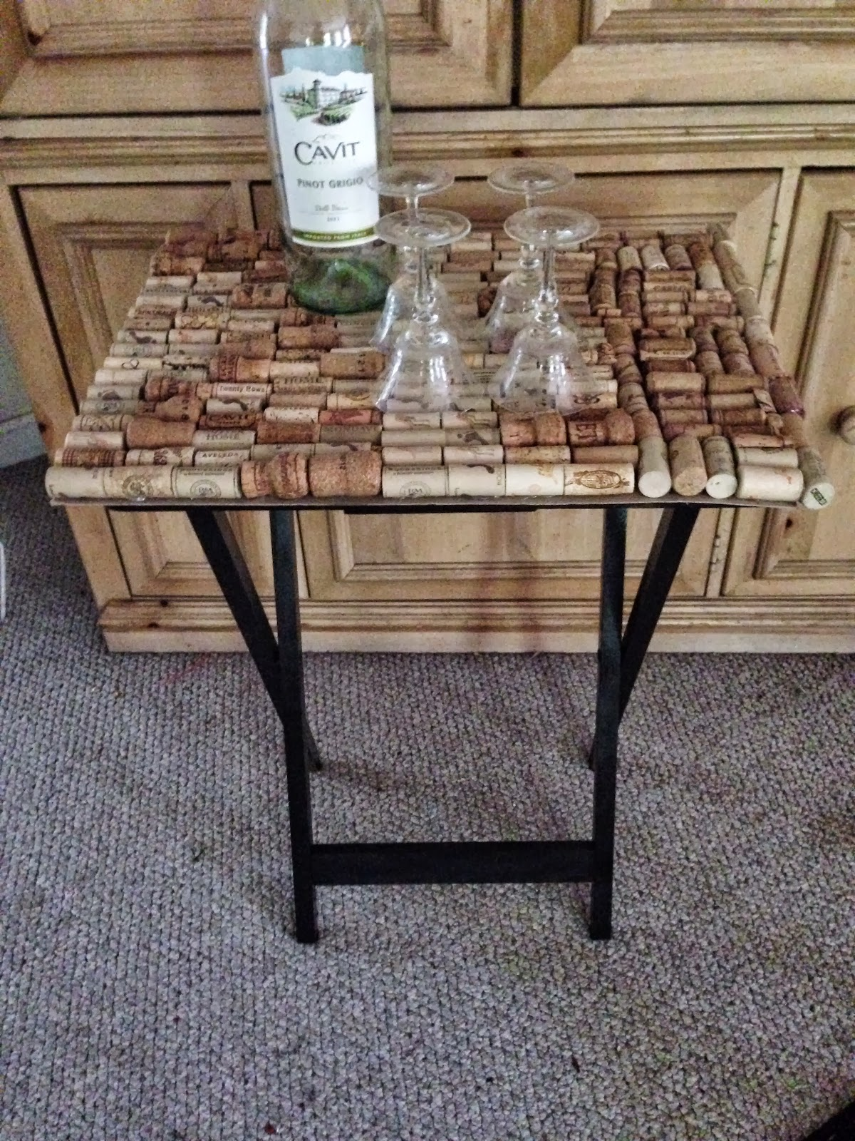 Wine Cork Table Our Crafty Mom