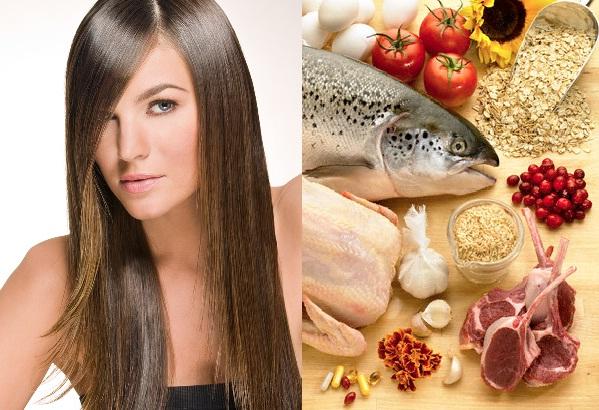 eat foods make hair