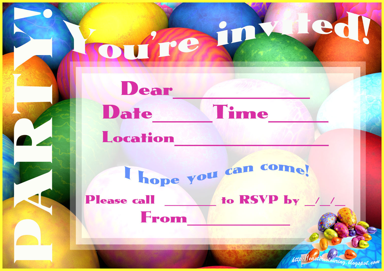 Easter Party Invitations is an amazing ideas you had to choose for invitation design