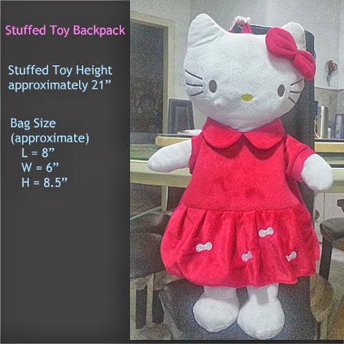 hello kitty stuffed toy character backpack