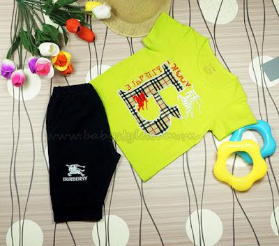 Bộ Burberry dành cho bé Nam màu cớm - Babystyle.com.vn