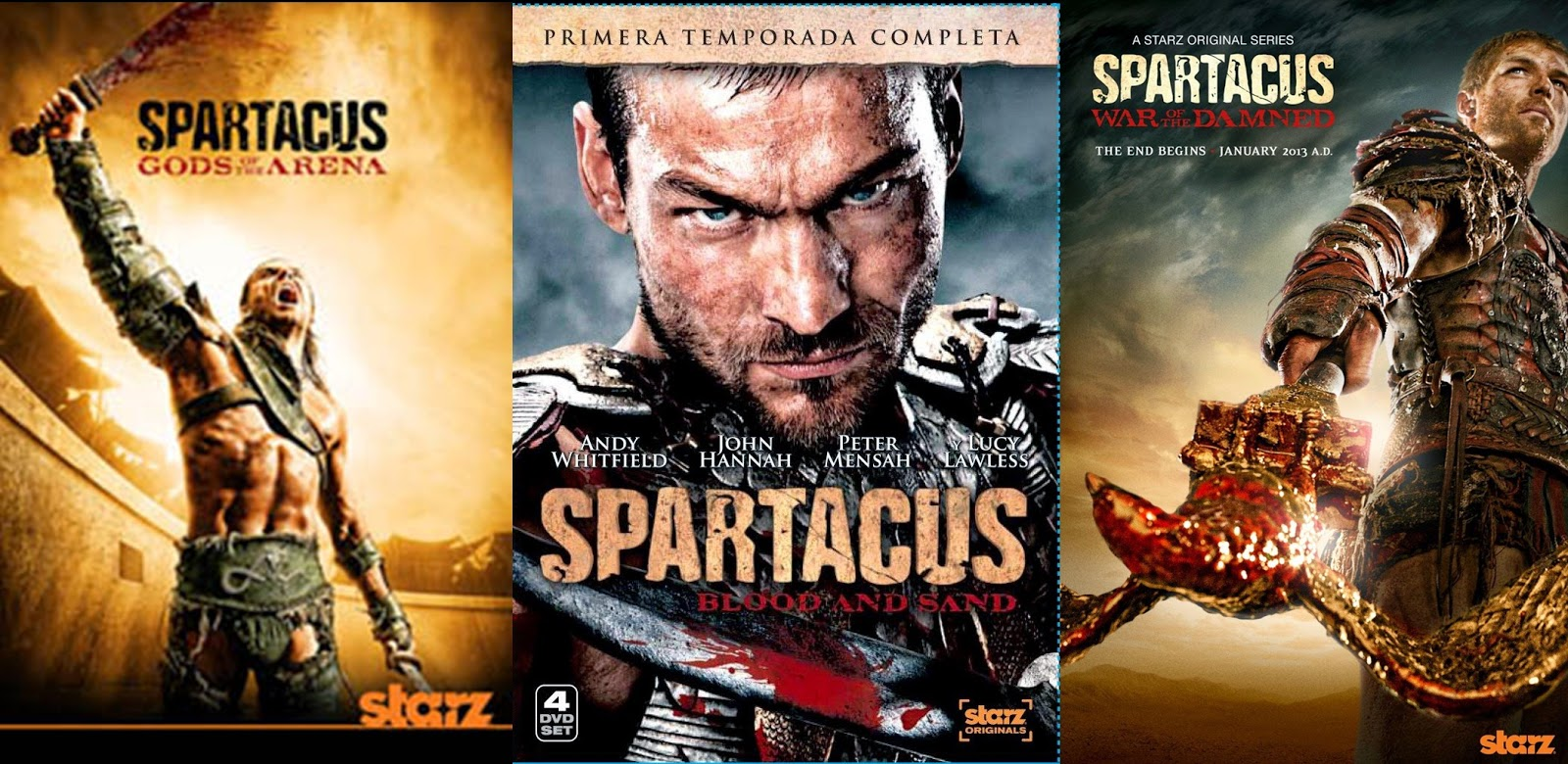 Paradise Olshop DVD: TV Series Spartacus Lengkap Season 1 ...