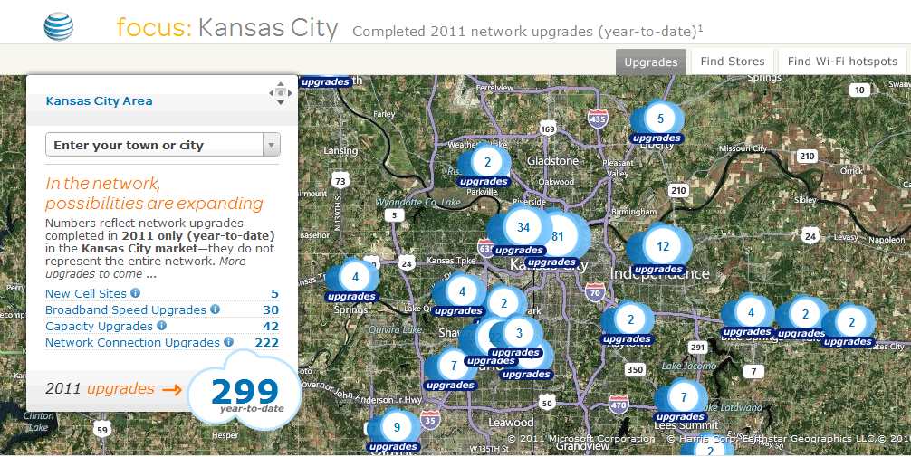 Dead Zones: AT&T Shows Network Upgrades in Kansas City