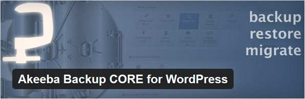 Akeeba Backup CORE for backing up WordPress