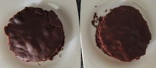 capas del bizcocho de chocolate