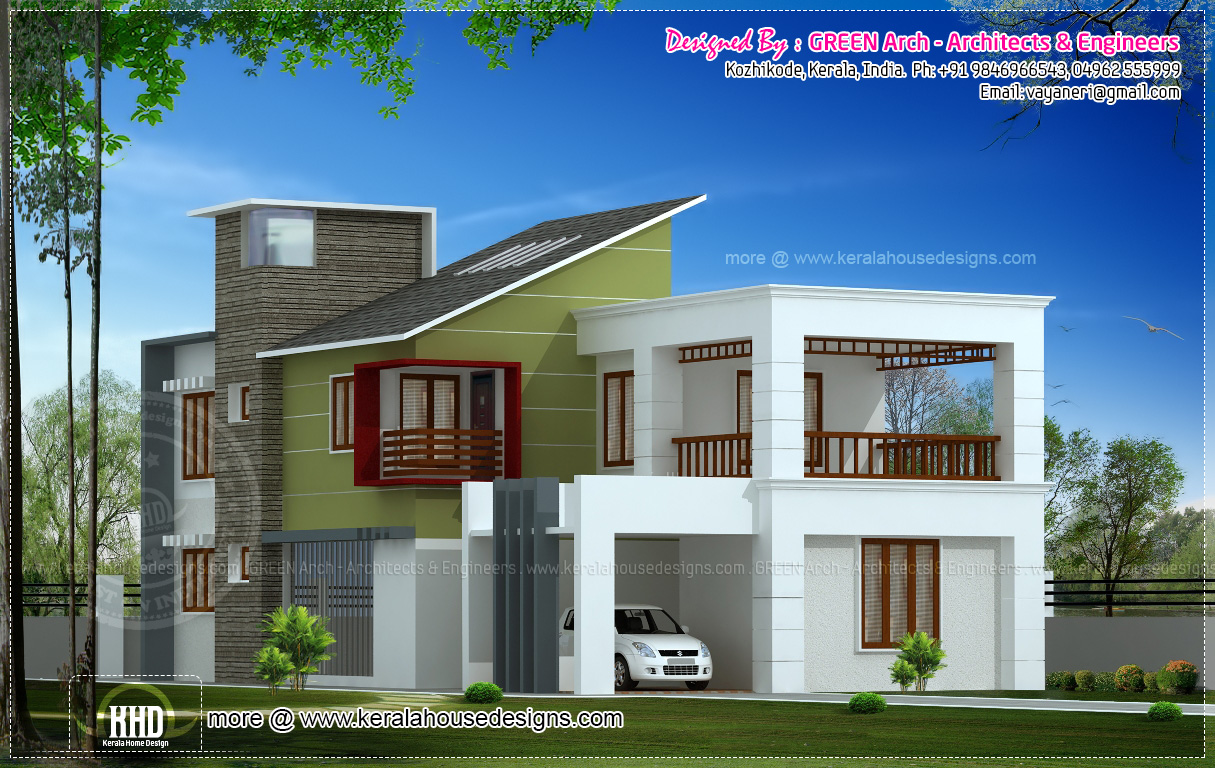10 different house elevation exterior designs - Kerala home design and ...