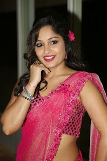 Actress Madhavi Latha Pictures in Pink Saree at Mosagallaku Mosagadu Audio Release Function  15.JPG