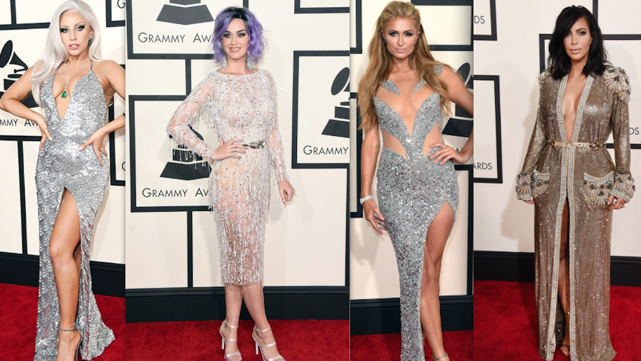 GRAMMYS, GRAMMY AWARDS, KIM KARDASHIAN, NICKI MINAJ, BEYONCE, JESSIE J, MILEY CYRUS, LADY GAGA, IGGY AZALEA, KATY PERRY, PARIS HILTON, RED CARPET, BEST DRESSED, FASHION, STYLE, DRESSES,