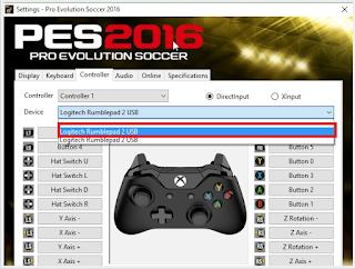 Cara setting gamepad yang tidak terdetek pada PES 2016