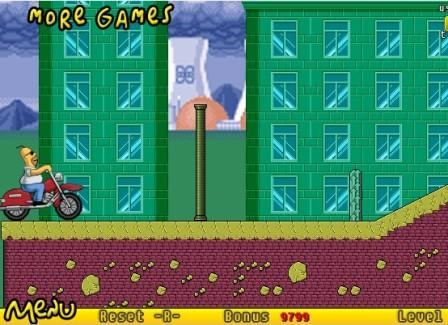 Juegos de los simpson en moto