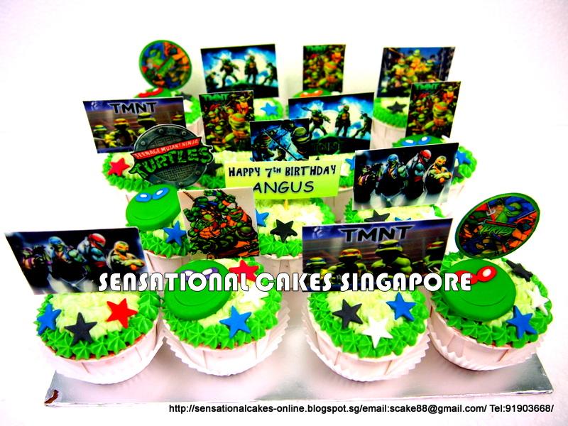 Ninja Turtle Fondant Cupcake Toppers Ninja Turtle Cupcakes