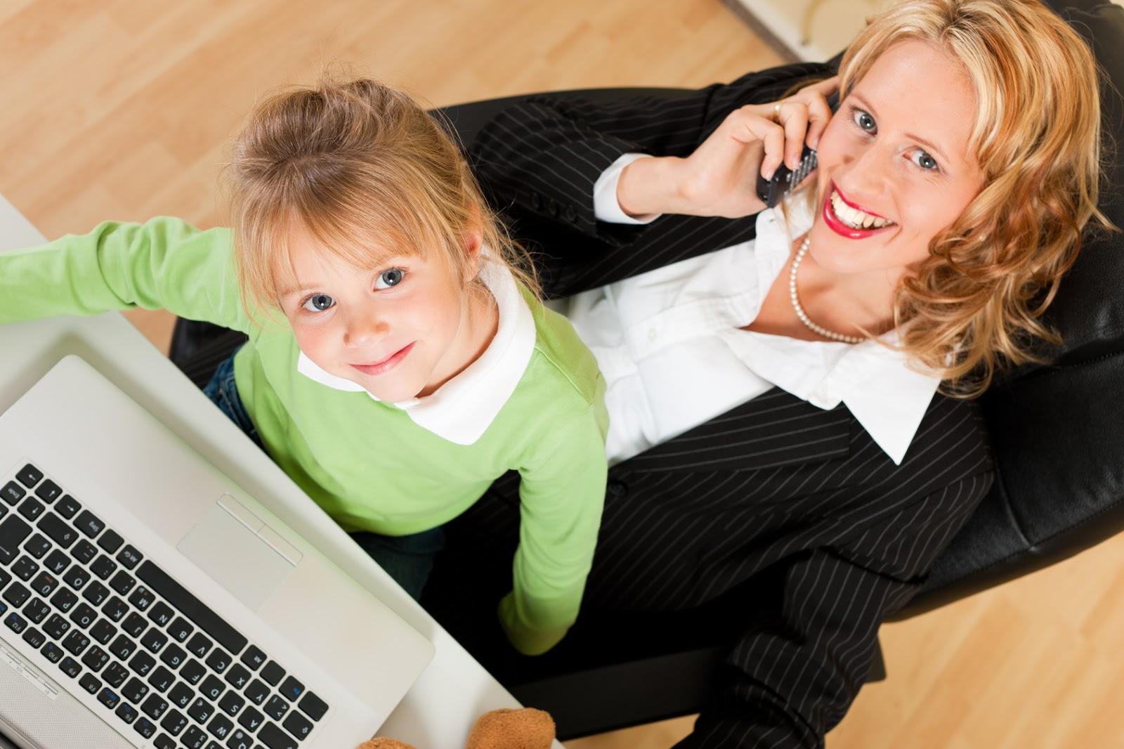 Фото деловых женщин с детьми