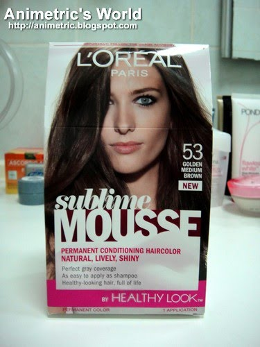 L'oreal Sublime Mousse Hair Color Review - Animetric's World