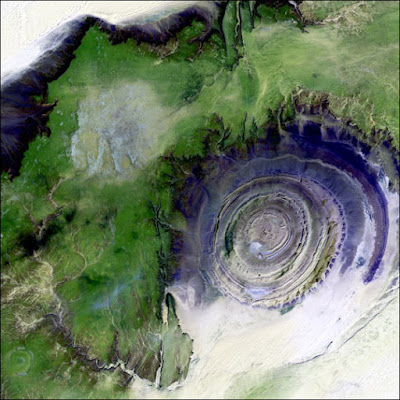 Eroded Dome Mountain that Looks like an Eye - Richat Structure Mauritiana