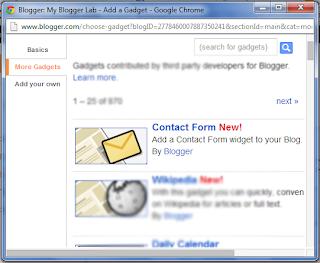 cara membuat contact form, cara menambahkan contact form, contact form, widget, widget contact form,