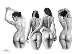 Hiperrealismo Dibujos De Desnudos A Lapiz