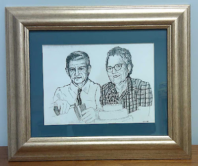 Framed drawing