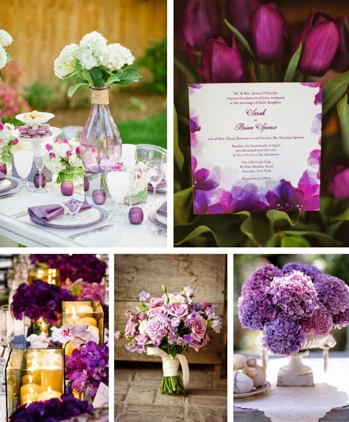 Purple Spring Wedding Color Inspiration