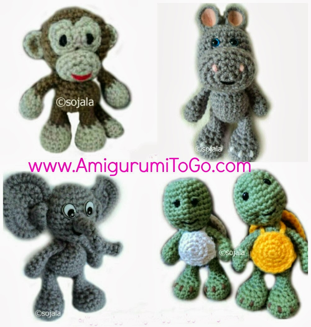 Amigurumi Woodland Animals Patterns : Video Tutorials Amigurumi Zoo Animals ~ Amigurumi To Go