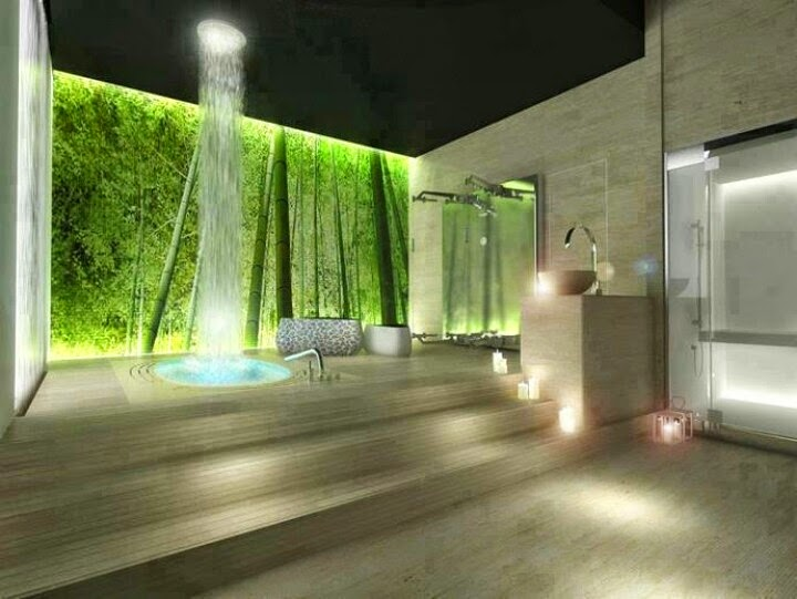 Unique Outdoor Shower Design Dezin Decor Waterfall Showers Interiors Exteriors