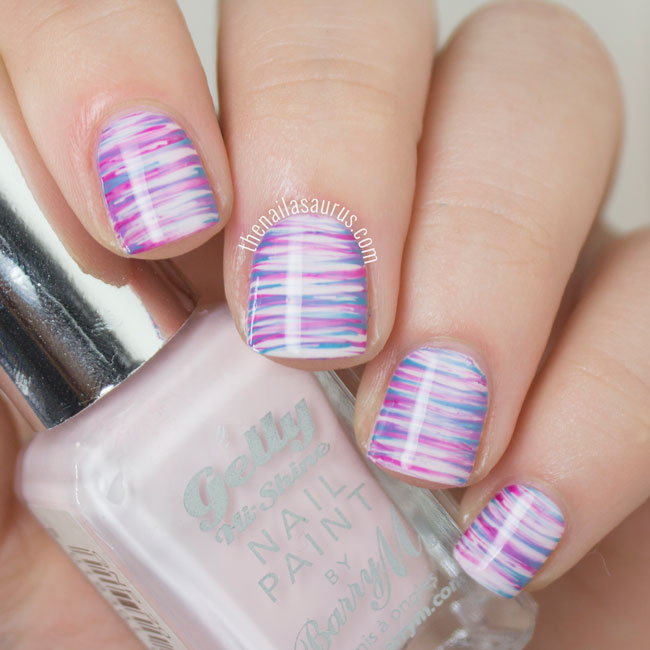 Nail Art Designs Using Fan Brush